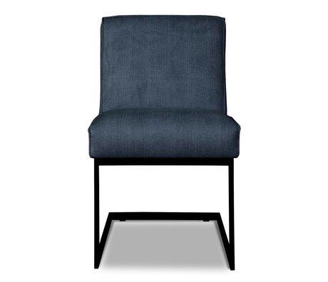 I-Sofa Eetkamerstoel Liv blauw textiel 65x54x86cm