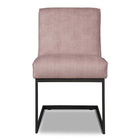 I-Sofa Eetkamerstoel Liv roze textiel 65x54x86cm
