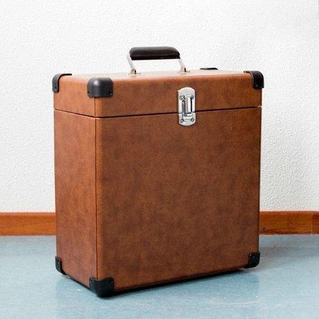 Crosley Radio Crosley Draagbare koffer hout bruin leer 38,1x38,1x17,8cm