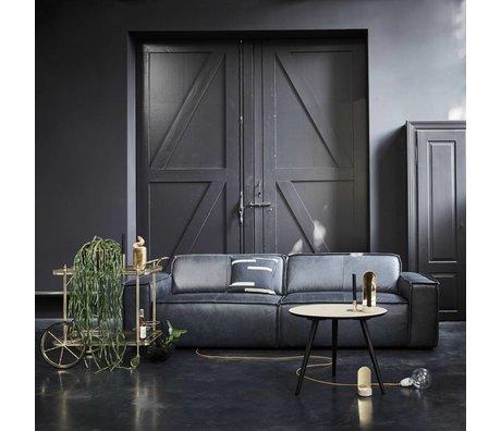 FEST Amsterdam Bank Edge 3-zits leather de silva 15005 donker grijs leer 254x103cm