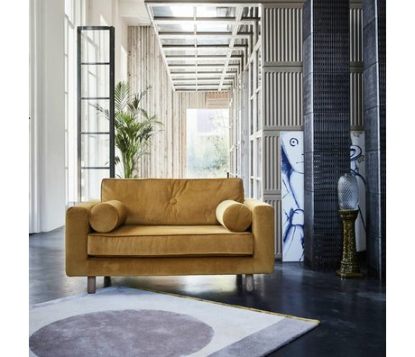 FEST Amsterdam Fauteuil Avenue loveseat fabric seven 23 geel velvet 142x87cm
