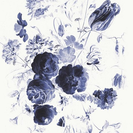 KEK Amsterdam Behang Royal Blue Flowers I multicolor vliespapier 194,8x280cm