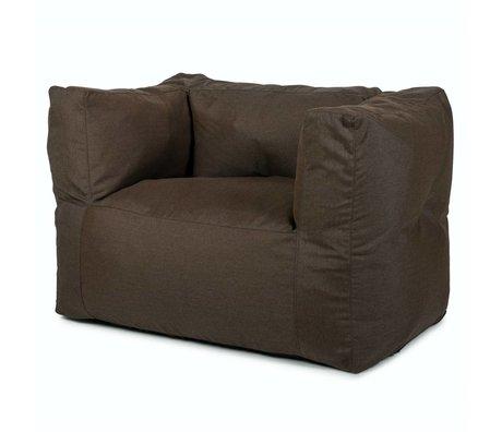 BRYCK Loungestoel Chair BROWNearth bruin textiel 75x75x100cm