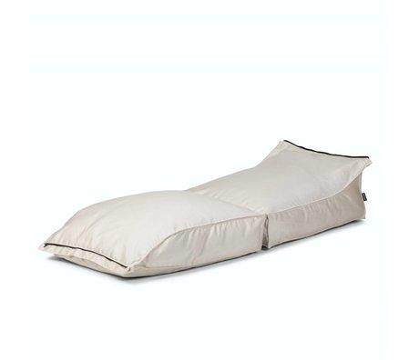 BRYCK Ligstoel Stretch WHITEbroken wit textiel 70x35x180cm