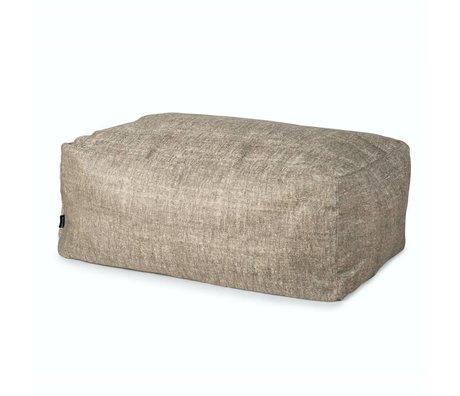 BRYCK Poef Hocker GREYskill grijs textiel 100x65x40cm