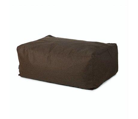 BRYCK Poef Hocker BROWNearth bruin textiel 100x65x40cm
