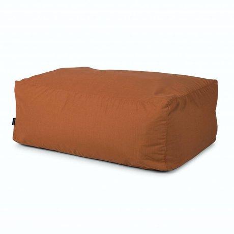 BRYCK Poef Hocker COPPERish koper textiel 100x65x40cm