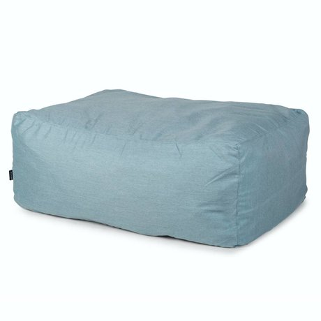 BRYCK Poef Hocker ICEblues blauw textiel 100x65x40cm