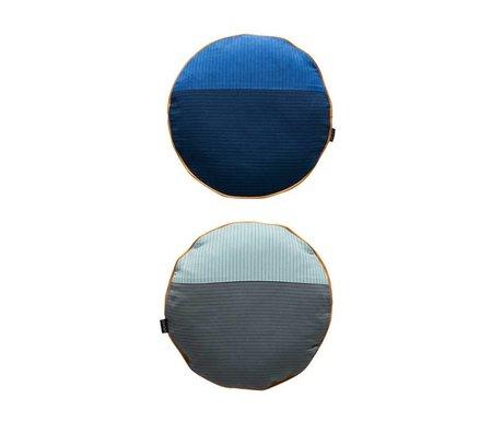 OYOY Sierkussen PI tweezijdig multicolour blauw katoen Ø38cm