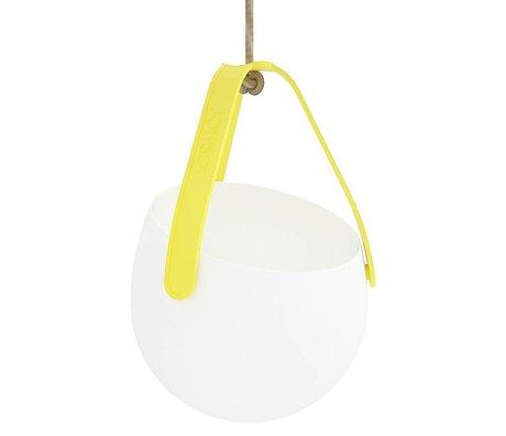 JokJor Plantenhanger Sling wit geel kunststof Ø18x18cm