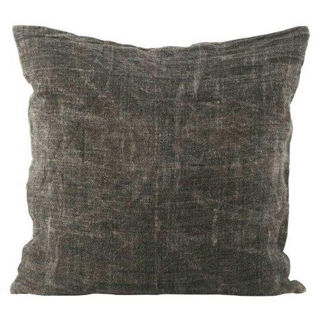 Housedoctor Sierkussen hoes Washed grijs wit  linnen 50x50cm