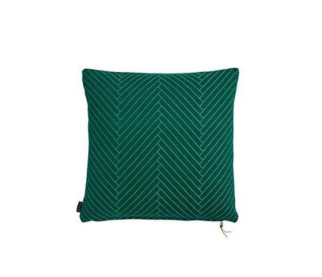 OYOY Sierkussen Fluffy Herringbone groen katoen 50x50cm