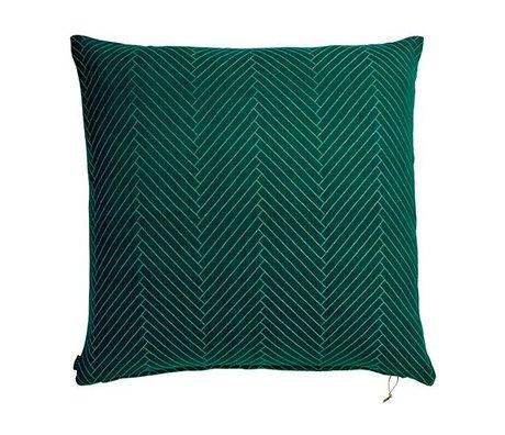 OYOY Sierkussen Fluffy Herringbone groen katoen 80x80cm