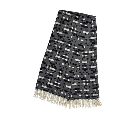 OYOY Plaid Domino donker grijs katoen 127x170cm