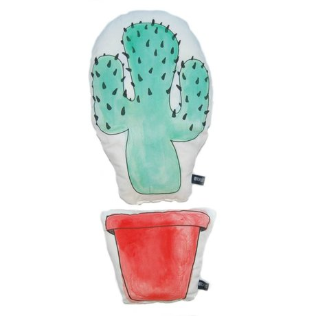 LEF collections Kussen Cactus Western set multicolor katoen