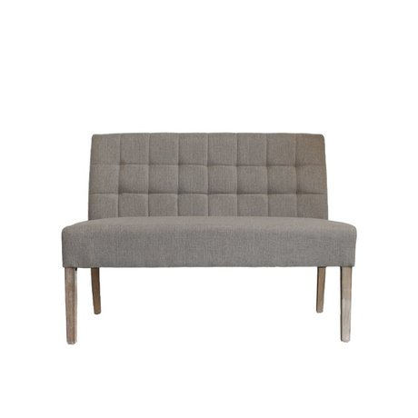 LEF collections Bank Sem naturel bruin textiel 125x59x92cm