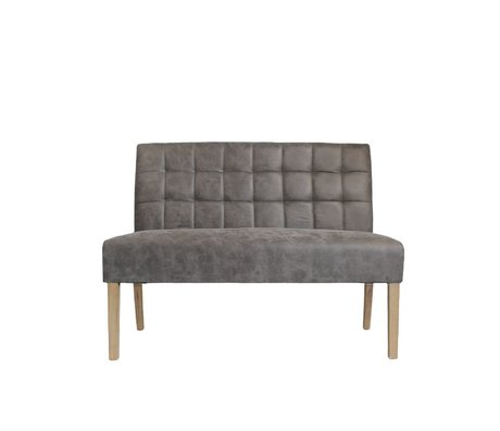 LEF collections Bank Sem forest taupe bruin textiel 125x59x92cm