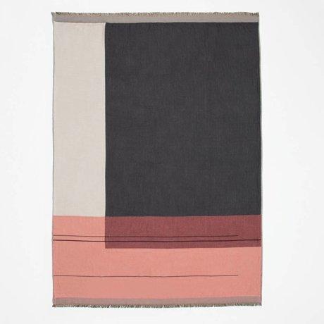 Ferm Living Woondeken Colour block multicolor textiel 130x180cm