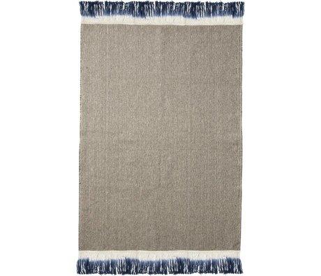 Ferm Living Vloerkleed Dip Blauw textiel 60x100cm