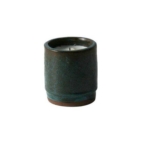 Ferm Living Geurkaars groen keramiek soya wax ø9x10cm