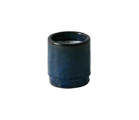 Ferm Living Geurkaars blauw kermaiek soya wax ø9x10cm