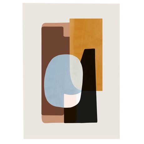 Ferm Living Poster ABSTRACTION 1 multicolour papier 50x70cm