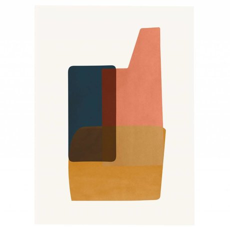 Ferm Living Poster ABSTRACTION 2 multicolour papier 50x70cm