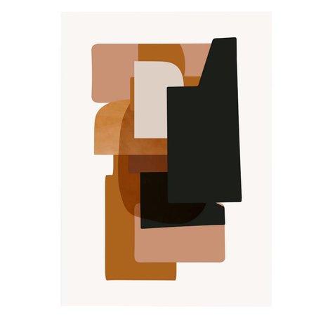 Ferm Living Poster ABSTRACTION 3 multicolour papier 50x70cm