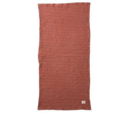 Ferm Living Handdoek Organic rood textiel 50x100cm