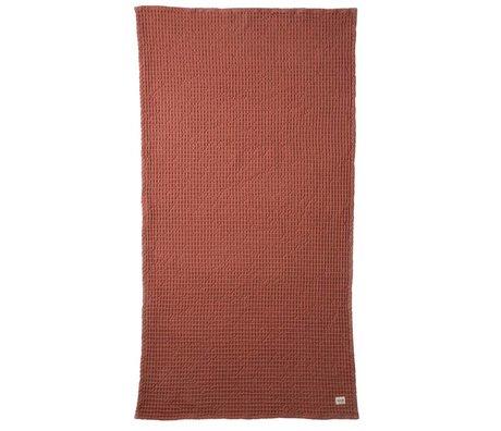 Ferm Living Handdoek Organic rood textiel 70x140cm