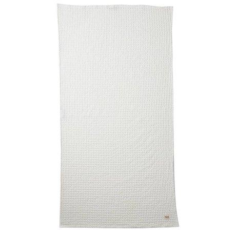 Ferm Living Handdoek Organic wit textiel 70x140cm