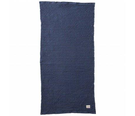 Ferm Living Handdoek Organic blauw textiel 50x100cm