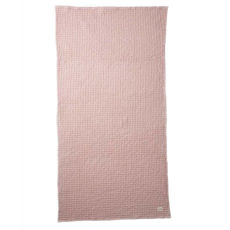 Ferm Living Handdoek Organic roze textiel 70x140cm