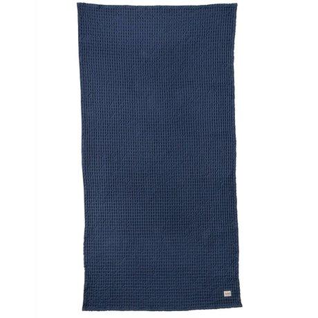 Ferm Living Handdoek Organic blauw textiel 70x140cm