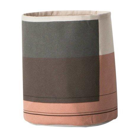 Ferm Living Wasmand Colour block multicolour textiel ø22x25cm