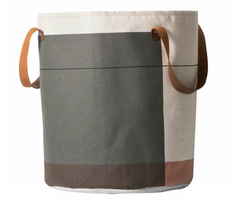 Ferm Living Wasmand Colour block multicolour textiel ø35x40cm