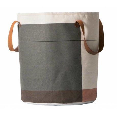 Ferm Living Wasmand Colour block multicolour textiel ø35x40cm