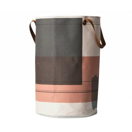 Ferm Living Wasmand Colour block multicolour textiel ø40x60cm
