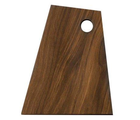 Ferm Living Snijplank Asymmetrisch bruin hout 18x22x1,5cm