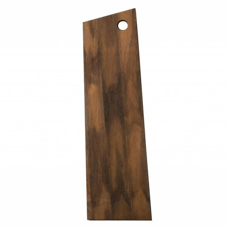 Ferm Living Snijplank Asymmetrisch bruin hout 15x50x1,5cm