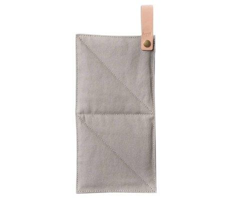 Ferm Living Pannenlap Canvas grijs textiel 16x26cm