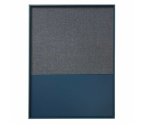 Ferm Living Prikbord magneetbord Frame Pinboard blauw 82x123x3,5cm