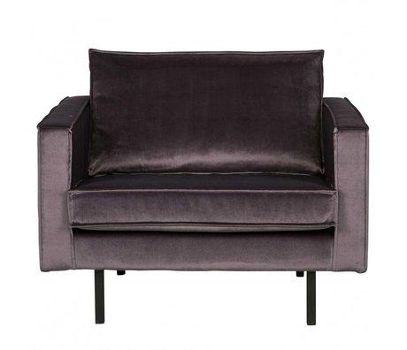 BePureHome Fauteuil Rodeo grijs fluweel velvet 105x86x85cm