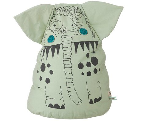 Ferm Living Zitkussen / zitzak Kids Edward Bean bag groen 80cm