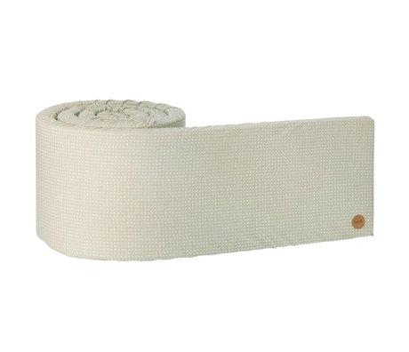 Ferm Living Bed bumper Cross grijs 340x30x3,5cm