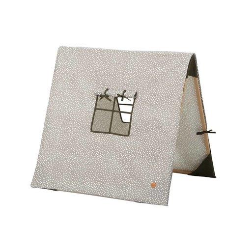 Ferm Living Tent Dots inklapbaar grijs katoen/hout 100x100xcm