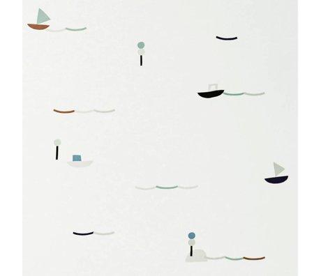 Ferm Living Behang Seaside multicolour papier 53x1000cm