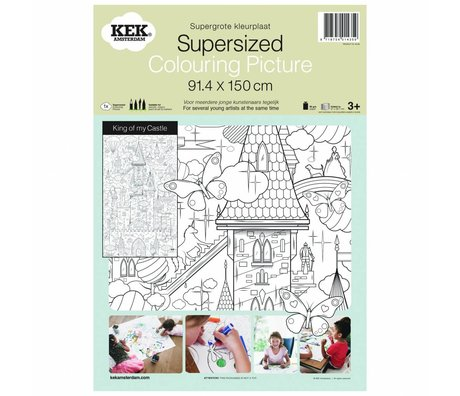 KEK Amsterdam XXL Kleurplaat papier zwart wit 91x150cm, King of my castle