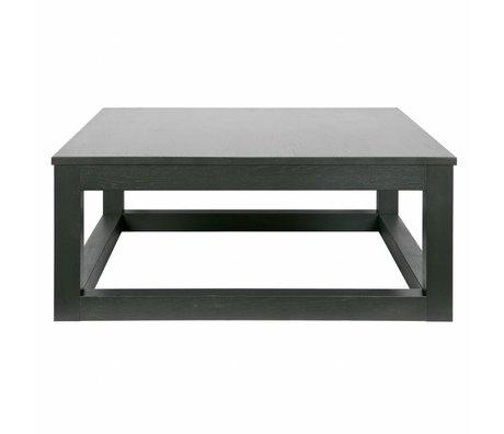 LEF collections Salontafel Wout zwart eiken hout 36x85x85cm
