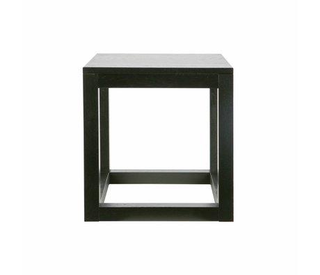 LEF collections Bijzettafel Wout zwart eiken 47x45x45cm